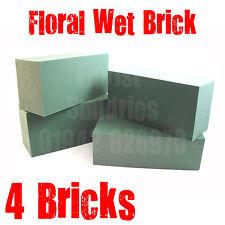 4 x GENUINE OASIS FLORIST FLORAL FLOWER FOAM WET BRICKS FOR FRESH FLOWERS