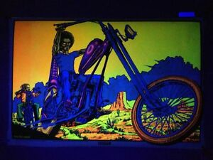 Freedom Rider -  Blacklight Poster - Barry Lynn Hanson - Karp & Association 1972
