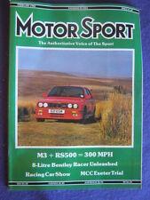 MOTORSPORT - 8 LITRE BENTLEY RACER - Feb 1988 vol 64 # 2