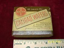 Vintage Bayer Aspirin Waffers Tablet Pill Pharmacy Advertising Tin Metal