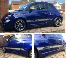 Fiat 595 500 Abarth Stripes Graphics Decals Stickers OEM style anycolour quality