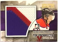 2010-11 ITG Heroes & Prospects Jumbo Number Gold Stephen Silas Vault Red 1/1