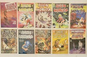 Alien Worlds #1-#9 And 3D Alien Worlds 1 Pacific Comics Dave Stevens VF