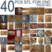 3dstl 3d stl Model relief 40 pcs Pack for CNC Router Artcam #2