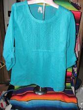 Roper BoHo Inspired Peasant Shirt Brand New Machine Wash & Dry 100% Cotton Bust