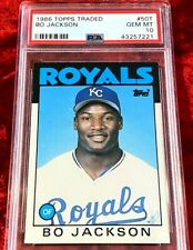 1986 TOPPS TRADED BO JACKSON RC ROOKIE ROYALS #50T PSA 10