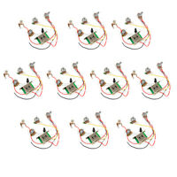 10 Pcs Wiring Harness  Pickup Switch Pots Jack For Fender Strat Guitar Parts