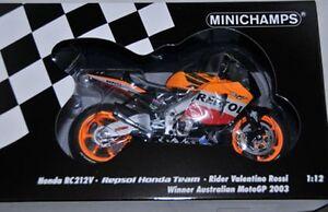 Honda RC211V bike Rossi Australian MotoGP 2003 1:12th MINICHAMPS 123 037176 BOX
