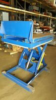 Vestil MFG Co. 2000LB Scissors lift table W/ Tilt and Backstop  EHLTT-3648-2-47