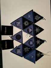 Lot Of Swarovski Christmas Ornaments 2003-2009
