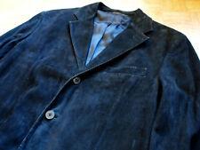 Ermenegildo Zegna soft black skin suede leather jacket coat made in Italy 50 / M