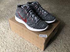 brand new fe05c f57e7 Nike Lunar Flyknit Chukka Wolf Grey Red Size US 8 UK 7 554969-001 2013