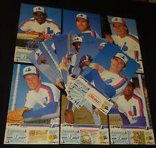 1986 - PROVIGO - MONTREAL EXPOS  - MLB - PREMIUM - BASEBALL - POSTERS SET OF 12