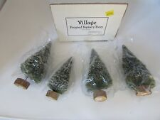 Dept 56 52019 Village Frosted Topiary Trees Set Of 4 Mint In Box D5