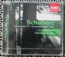 Schubert: Symphonies 1-4; Rosamunde ballet music 2xCD Herbert von Karajan EMI