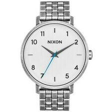Nixon A1090-2701 Arrow Women's Silver Metal Bracelet With Off White Dial Watch