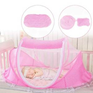 Summer Baby Foldable Mosquito Net Canopy Bed Camping Travel Cot Tent Crib Pillow