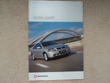 Vauxhall Astra Coupe (Incl. Turbo Ed. and Bertone Ed.)  Brochure  - 2002  - Mint