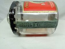 Antique Prince Albert Glass Crimp Cut Tobacco Jar