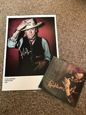 Kiefer Sutherland Signed A4 photo and Reckless & Me Sealed CD