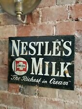 Nestle Enamel Sign nestles sign porcelain sign kitchen kitchenalia
