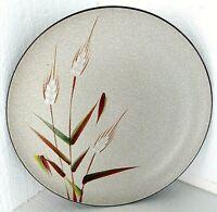 """Vtg UCAGCO Large 12"""" Chop Dinner Plate WILD RICE Black White Round Platter MCM"""