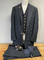 RARE 1975 PULLMAN RAILROAD Conductor Full Uniform Jacket Vest Pants Tie Belt 45