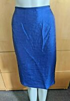 Kasper Evening Women's Skirt Pencil Royal Blue Cobalt Knee Length Size 12 NWT