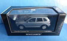 PORSCHE CAYENNE V6 MERIDIAN GREY METAL 2003 MINICHAMPS 400061010 1/43 metallic
