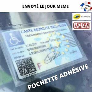 Porte Carte Mobilité Inclusion Adhésif Support Etui Stationnement Handicapé Fr