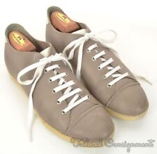 DIOR HOMME Taupe Beige Gray Leather Captoe Shoes Sneakers - EU 41 / US 8