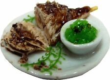 Dollhouse Miniature Leg of Lamb w/Mint Jelly by Bright deLights