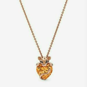 AUTHENTIC PANDORA ROSE™ SPARKLING LION PRINCESS NECKLACE #388068CFM 60CM