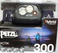 Petzl Actik - Aktive Stirnlampe in Black - 300 Lumen, Kopflampe, Headlight