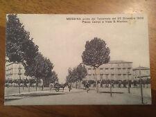 Cartolina Sicilia Messina prima del Il terremoto del 1908 piazza Cairoli 9/12/15