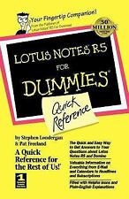 Lotus Notes R5 for Dummies® : Quick Reference by Pat Freeland, Stephen R....
