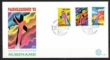 Suriname - 1993 Easter -  Mi. 1435-37 clean FDC