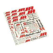 _ JR _ JR/DSM Heli Decal Sheet JRPA963 NEW IN PACKAGE   *E