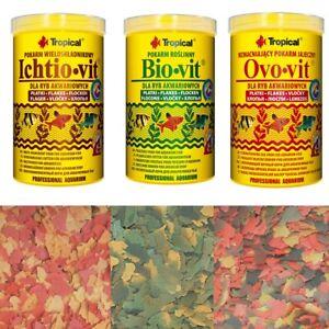 Tropical  Futterset Ichtio-Vit Bio-Vit Ovo-Vit 3 x 1 Liter Frische Neuware