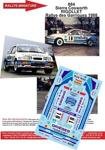 Decals 1/32 Ref 0884 Sierra Cosworth Enliven Rally Of Garrigues 1988 Rally