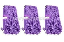 Shark Steam Mop Pocket Coral Compatible Pads Covers S3701 SM200 S4501 - 3 Pack