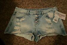 Juniors SZ 5 Almost Famous Distressed Short Shorts~NEW~Buttonfly~