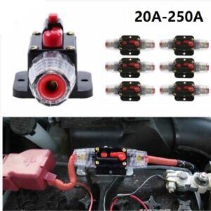 20 - 250Amp Circuit Breaker with Home Fuse Holder DC 12v 24v for Car Audio