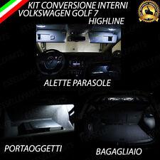 KIT FULL LED INTERNI GOLF 7 VII HIGLINE LUCI PARASOLE + PORTAOGGETTI +BAGAGLIAIO