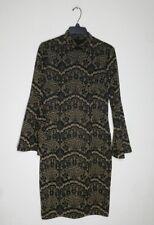 NWT Alex Marie Women s Plus Size 18 Black Gold Metallic Bell Sleeve Aly  Dress a6eb2fa58