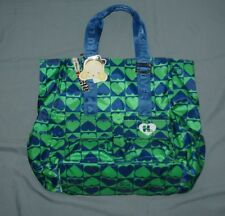 NEW Harajuku Lovers TOTE & Shopper BAG  Blue with Green Hearts  Ret $98.00 L@@K!