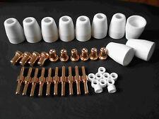 40pcs PT-31 Tip Nozzle Electrode Extended long For Plasma Cutter CUT-40 CUT50