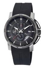 Kenneth Cole Reloj De Hombre kc8035 Análogo Cronógrafo Caucho Negro