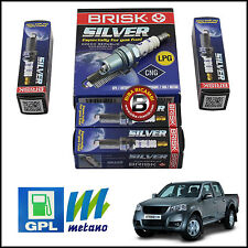 KIT 4 CANDELE SPECIFICHE GPL / METANO GREAT WALL STEED 2.4 GPL 2009>