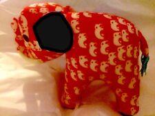 Elephant Trunk Up Stuffed Animal Chiang Mai Hand Made Craft Thailand Plush NEW